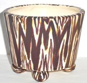 Zebra Round Footed Planter