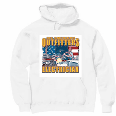 All American Outfitters Electrician hoodie hooded sweatshirt