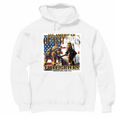 All American outfitters FIREFIGHTERS firemen Pullover hoodie hooded sweatshirt