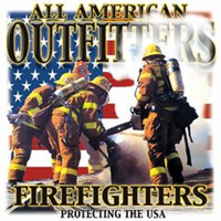 All American outfitters FIREFIGHTERS firemen shirts