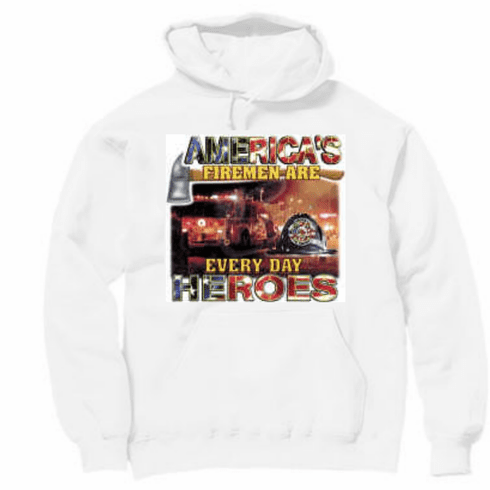 America's firemen are every day heroes. Firefighter Pullover hoodie hooded sweatshirt