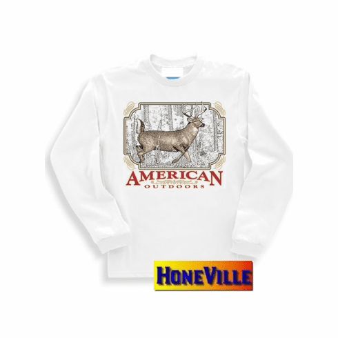 American outdoors DEER buck nature sweatshirt or long sleeve T-shirt
