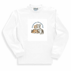Animal Nature cat kitten kitty friends know when to give hugs sweatshirt long sleeve t-shirt