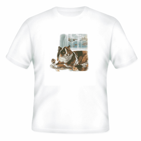 Animal Nature cat kitten kitty window sill shirt t-shirt