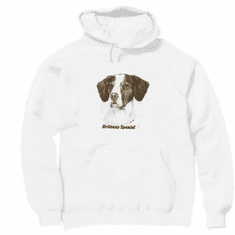 Animal Nature dog puppy doggy brittany spaniel pullover hoodie hooded sweatshirt