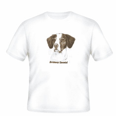Animal Nature dog puppy doggy brittany spaniel shirt t-shirt