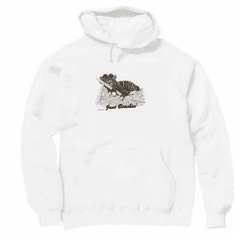 Animal Nature kitten kitty cat Just Beachin' relaxing folding beach chair pullover hoodie hooded sweatshirt
