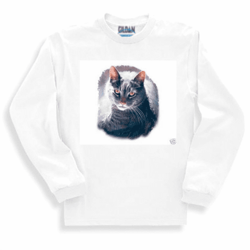 Animal nature kitten kitty cat long sleeve tshirt sweatshirt