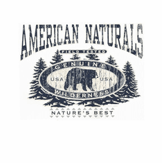 Animal Nature wild American Naturals bear Genuine Wilderness Nature's Best Field Tested t-shirt shirt