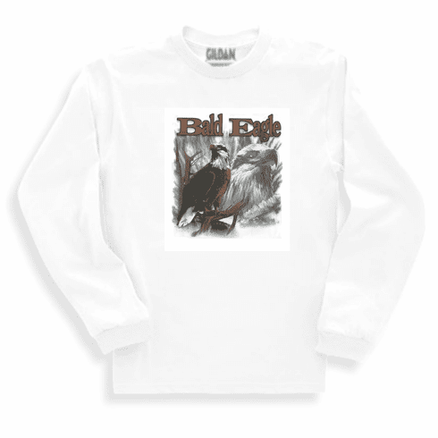Animal Nature wild Bald Eagle sweatshirt long sleeve t-shirt