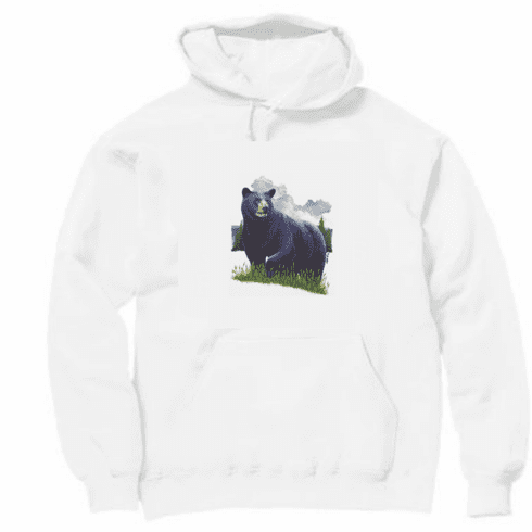 Animal Nature wild Black bear pullover hoodie hooded sweatshirt