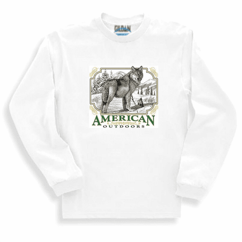 Animal nature wild life American outdoors wolf wolves long sleeve tshirt sweatshirt