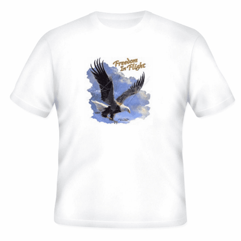 Animal nature wild life eagle Freedom in Flight sky clouds tshirt shirt