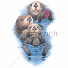 Animal nature wild otters tshirt shirt