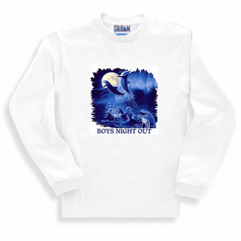 Animal nature wild under the sea ocean view marine life dolphins Boys night out long sleeve tshirt sweatshirt