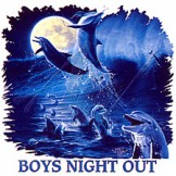 Animal nature wild under the sea ocean view marine life dolphins Boys night out tshirt shirt