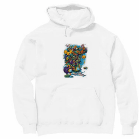 Animal nature wild under the sea ocean view marine life tropical fish pullover hoodie hooded sweatshirt