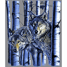 Animal nature wild wolves wolf woods tshirt shirt