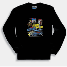 Antique Cars Car Main Street of America Historic Route 66 long sleeve t-shirt sweatshirt