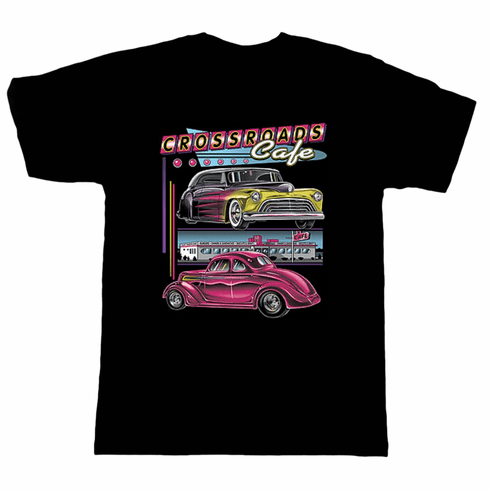 Antique cars Crossroads Cafe' t-shirt shirt