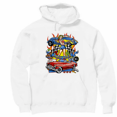 Antique cars Lady Luck hoodie hooded sweatshirt