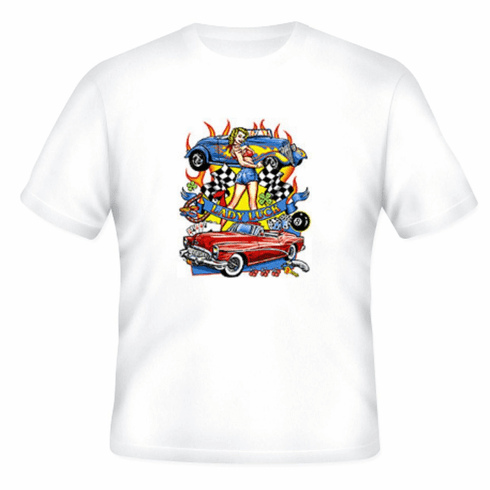 Antique cars Lady Luck t-shirt shirt
