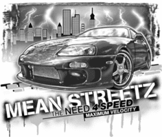 Antique cars Mean Streetz need 4 speed maximum velocity t-shirt shirt