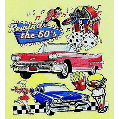 Antique cars Rewind the 50's jukebox dice drive in t-shirt shirt