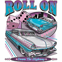Antique cars Roll on Down the Highway t-shirt shirt
