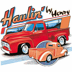 Antique classic truck shirt.  HAULIN' BY HENRY