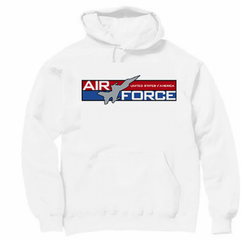 Armed Forces Military Air Force hoodie hooded sweatshirt sayings United States of America US Air Force