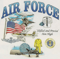 Armed Forces Military Air Force shirt sayings United States US Air Force skilled and precise Aim High