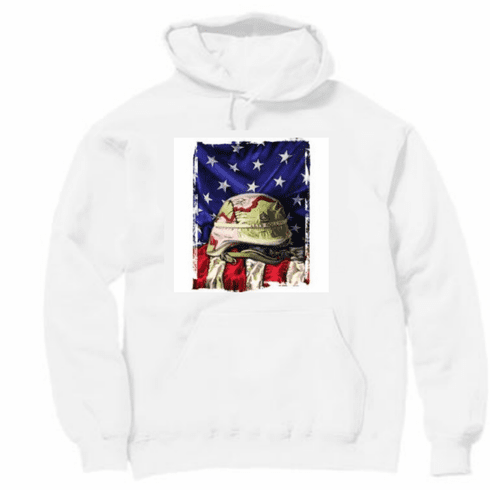 Armed Forces Military American Flag Patriotic helmet Let's Roll hoodie hooded sweatshirt sayings
