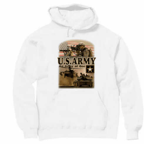 Armed Forces Military Army hoodie hooded sweatshirt sayings United States of America US An Army of One