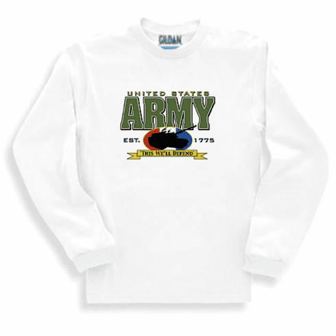 Armed Forces Military Army long sleeve t-shirt shirt sweatshirt sayings United States US ARMY THIS WE'LL DEFEND