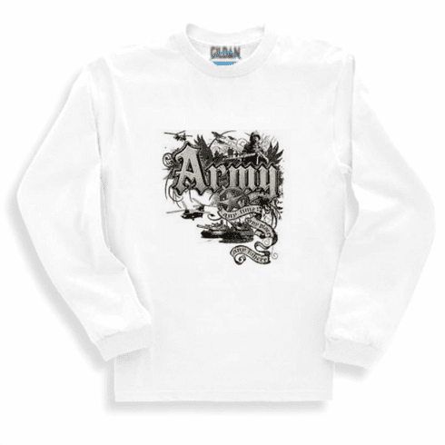 Armed Forces Military Army long sleeve t-shirt sweatshirt sayings United States of America US Army Any time, Any place, Any where