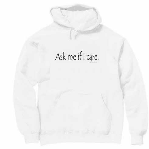 Ask me if I care. Pullover Hooded hoodie Sweatshirt