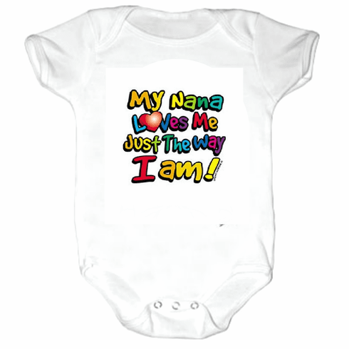 Baby Infant kids toddler Creeper sleeper body suit one piece My Nana Loves me Just the way I am
