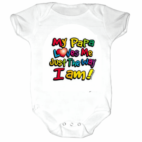 Baby Infant toddler Creeper sleeper body suit one piece My Papa Loves me Just the way I am