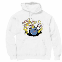 Bowl, Bowling Pullover Hoodie Hooded sweatshirt:  Let the good times roll!