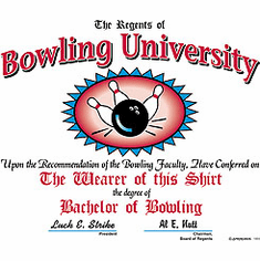 BOWLING university... Bachelor of Bowling shirt