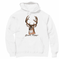 BUCK FEVER deer hunting pullover hooded hoodie sweatshirt