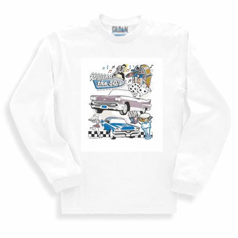 car truck long sleeve t-shirt sweatshirt Rewind the 50's Classic cars