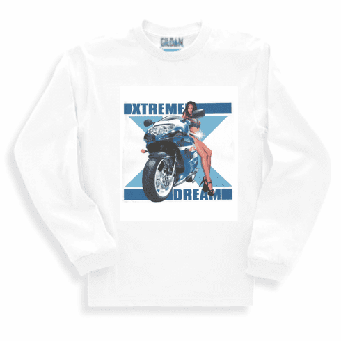 car truck motorcycle xtreme dream sexy long sleeve t-shirt sweatshirt