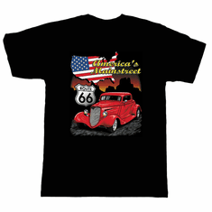 Cars Antique car Route 66 America's Mainstreet t-shirt shirt