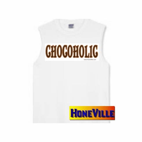CHOCOHOLIC chocolate lovers sleeveless t-shirt