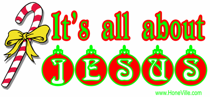 Christian Christmas shirt:  It's all about JESUS