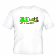 Christian Christmas t-shirt:  CHRISTmas... It's all about Jesus
