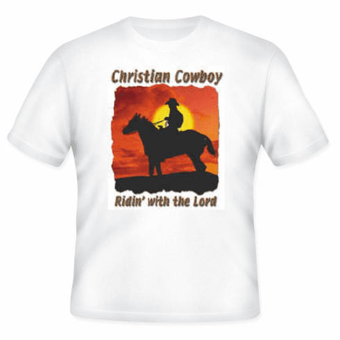 Christian Cowboy Riding with the Lord horse Riden' T-shirt