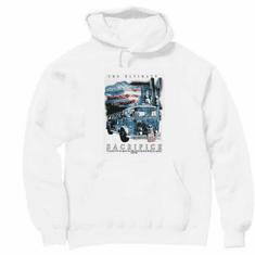 Christian firefighter pullover hooded hoodie sweatshirt the ultimate sacrifice
